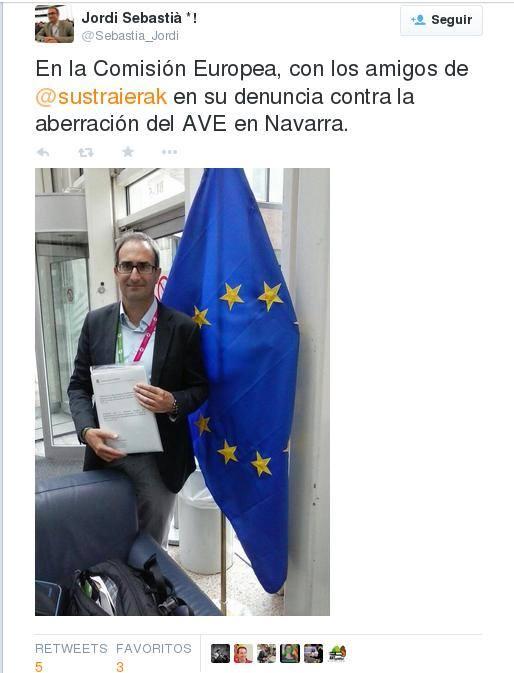 Jordi Sebastiá Twitterren, salaketa aurkeztu ondoren