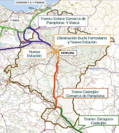 Nafarroako AHTren planoa